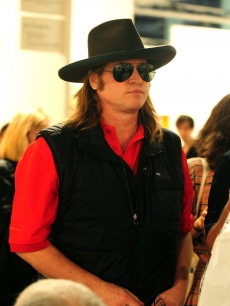 Val Kilmer attends Art Basel Miami at the Miami Beach Convention Center, Miami Beach, December 4, 2009