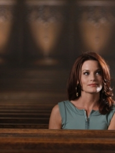 "Laura Leighton as Sydney on ""Melrose Place"""