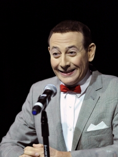 Paul Reubens, playing the character Pee-wee Herman, launches his Pee-wee Herman show at a press conference at Club Nokia on December 7, 2009 in Los Angeles, California