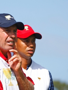 Steve Williams with Tiger Woods in October 2009