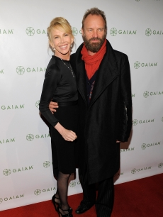 Trudie Styler and Sting attend Trudie Styler's 'Mind Body Fitness' DVD series launch party at Urban Zen, NYC, December 10, 2009