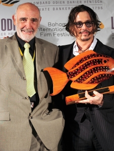 Sean Connery and Johnny Depp attend the Johnny Depp tribute during the 6th Annual Bahamas International Film Festival at Atlantis Paradise Island on December 13, 2009 in Nassau, Bahamas