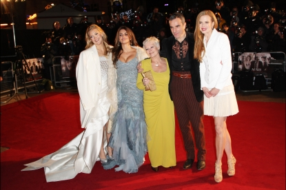 Kate Hudson, Penelope Cruz, Judi Dench, Daniel Day Lewis and Nicole Kidman attend the world premiere of 'Nine' held at the Odeon Leicester Square, London, December 3, 2009