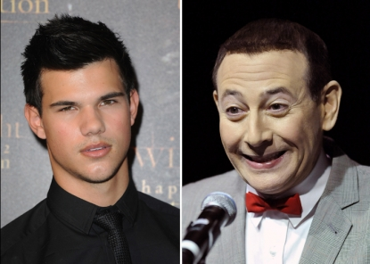 Taylor Lautner and Pee-Wee Herman (Paul Reubens)