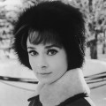 Audrey Hepburn steps out in the snow in a fur hat, &#8216;Charade,&#8217; 1963