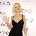 Christina Aguilera arrives on the TAO/Lavo red carpet at the Venetian on December 31, 2009 in Las Vegas