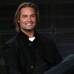 Josh Holloway smiles onstage at the ABC 'Lost' Q&A portion of the 2010 Winter TCA Tour day 4 at the Langham Hotel on January 12, 2010 in Pasadena, California