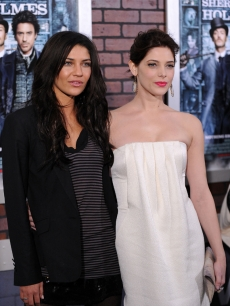 Jessica Szohr and Ashley Greene attend the premiere of 'Sherlock Holmes' at Alice Tully Hall, Lincoln Center, NYC, December 17, 2009