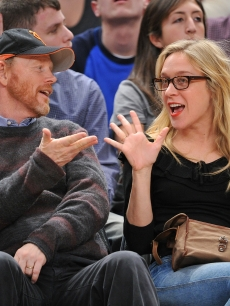 Ron Howard and Chloe Sevigny attend the San Antonio Spurs vs New York Knicks game at Madison Square Garden on December 27, 2009