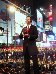 Carson Daly hosts NBC&#8217;s &#8216;New Year&#8217;s Eve 2010 With Carson Daly&#8217; in Times Square on December 31, 2009 in New York City