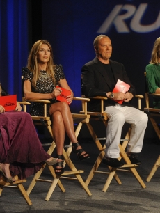 Nicole Richie with Nina Garcia, Michael Kors and Heidi Klum on the seventh season premiere of 'Project Runway' on Lifetime
