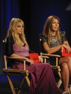 Nicole Richie with Nina Garcia on the seventh season premiere of 'Project Runway' on Lifetime