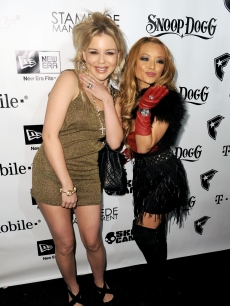 Tila Tequila and fiancee Casey Johnson attend the Famous Stars and Straps 10th Anniversary and Snoop Dogg 10th Album Release at Vanguard, Los Angeles, December 8, 2009