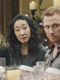 Kim Raver, Sandra Oh and Kevin McKidd on 'Grey's Anatomy'