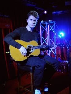 John Mayer performs live at The Hard Rock Cafe, Old Park Lane, London, January 11, 2010