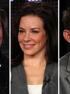 Josh Holloway, Evangeline Lilly and Michael Emerson from &#8216;Lost,&#8217; Pasadena, Jan. 12, 2010