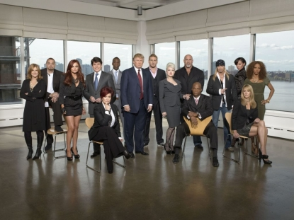 'Celebrity Apprentice' cast: Carol Leifer, Sinbad, Maria Kanellis, Sharon Osbourne, Rod Blagojevich, Michael Johnson, Donald Trump, Curtis Stone, Cyndi Lauper, Goldberg, Daryl Strawberry, Brett Michaels, Selita Ebanks, Summer Sanders, Holly Robinson Peete