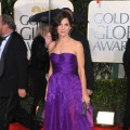Sandra Bullock sports a royal purple at the 67th Annual Golden Globe Awards held at The Beverly Hilton Hotel on January 17, 2010 in Beverly Hills, California