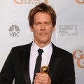 Kevin Bacon, winner of Best Performance by an Actor in a Mini-Series or Motion Picture made for Television for 'Taking Chance,' at the 67th Annual Golden Globe Awards at the Beverly Hilton Hotel in Beverly Hills