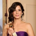 Sandra Bullock poses with her award for Best Actress - Drama backstage at the 67th Annual Golden Globe Awards at the Beverly Hilton Hotel in Beverly Hills, Calif., on January 17, 2010