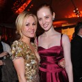 &#8216;True Blood&#8217; stars Anna Paquin and Deborah Ann Woll arrive at HBO&#8217;s Post Golden Globe Awards Party held at Circa 55 Restaurant at The Beverly Hilton Hotel on January 17, 2010