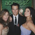 Jillian Michaels poses with Josh Duhamel and Fergie inside Access&#8217; Usnaps photo booth at the 2010 Golden Globes