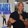 Dwayne Johnson promotes 'Tooth Fairy' at the NHL Powered By Reebok Store in NYC on January 20, 2010