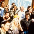 Artists recording 'We are the World,' including Smokey Robinson, Lionel Ritchie, Kenny Rogers, Bruce Springsteen and Paul Simon in 1985