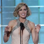 Felicity Huffman speaks on stage during the 67th Annual Golden Globe Awards held at the Beverly Hilton Hotel on January 17, 2010