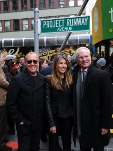&#8216;Project Runway&#8217; judges Michael Kors, Nina Garcia and Tim Gunn attend the &#8216;Project Runway&#8217; Avenue temporary street renaming at 39th Street and Seventh Avenue on January 13, 2010 in New York City