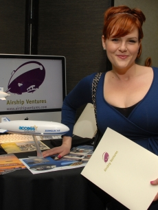 Sara Rue is ready to soar with Airship Ventures zeppelin tours at Access Hollywood&#8217;s 4th Annual &#8216;Stuff You Must&#039; Golden Globes Gifting Lounge at the Sofitel Hotel in LA on January 16, 2010