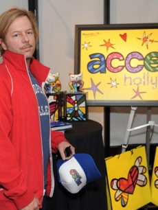 "Comedian David Spade at Access Hollywood's 4th Annual ""Stuff You Must…"" lounge produced by On 3 Productions celebrating the Golden Globes"