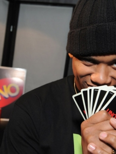 "'90210' actor Tristan Wilds plays a game of Uno at Access Hollywood's 4th Annual ""Stuff You Must…"" lounge produced by On 3 Productions celebrating the Golden Globes"