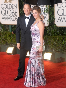 Tom Hanks and Rita Wilson at the 2010 Golden Globes