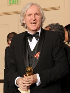 James Cameron with his award for Best Director - Drama for &#8216;Avatar&#8217; at the 67th Annual Golden Globe Awards at the Beverly Hilton Hotel in Beverly Hills, Calif., on January 17, 2010