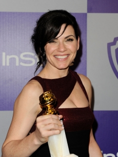 Julianna Margulies is ready to party at the InStyle and Warner Bros. post-Golden Globe Awards party at the Beverly Hilton Hotel in Beverly Hills, Calif., on January 17, 2010