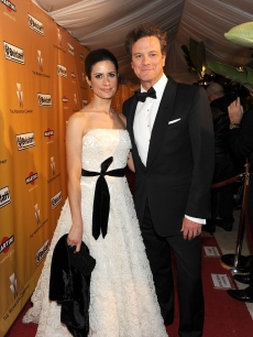 Colin Firth and wife Livia Giuggioli are a charming couple at the 2010 Weinstein Company Golden Globes After Party