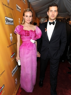 Diane Kruger and Joshua Jackson are a bright couple as they enter the 2010 Weinstein Company Golden Globes After Party 
