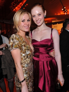 'True Blood' stars Anna Paquin and Deborah Ann Woll arrive at HBO's Post Golden Globe Awards Party held at Circa 55 Restaurant at The Beverly Hilton Hotel on January 17, 2010