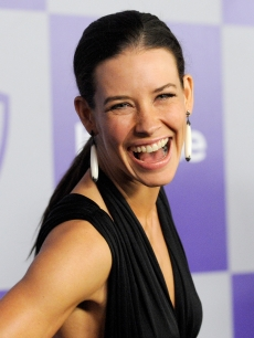 Evangeline Lilly arrives at the InStyle and Warner Bros. 67th Annual Golden Globes after party held at the Oasis Courtyard at The Beverly Hilton Hotel on January 17, 2010