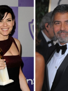 Julianna Margulies and George Clooney at the 2010 Golden Globe Awards