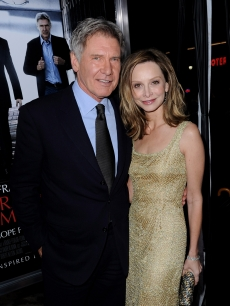 Harrison Ford and Calista Flockhart are all smiles at the premiere of CBS Films' 'Extraordinary Measures' on January 19, 2010 in Los Angeles, California