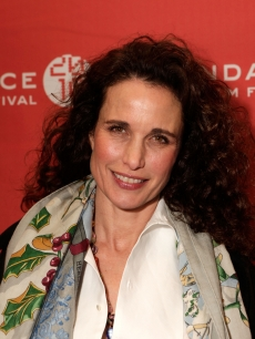Andie MacDowell attends the &#8216;Howl&#8217; Premiere during the 2010 Sundance Film Festival at Eccles Theatre, Park City, Utah, January 21, 2010