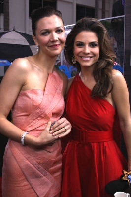 Access' Maria Menounos and Maggie Gyllenhaal are spotted looking gorgeous on the red carpet at 67th annual Golden Globe Awards on January 17, 2010 in Beverly Hills, California