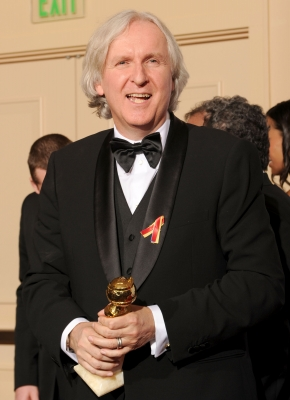 James Cameron with his award for Best Director - Drama for 'Avatar' at the 67th Annual Golden Globe Awards at the Beverly Hilton Hotel in Beverly Hills, Calif., on January 17, 2010