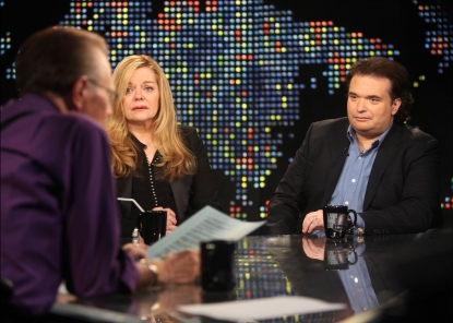 Brittany Murphy's mother, Sharon, and the late actress' husband, Simon Monjack, on CNN's 'Larry King Live'