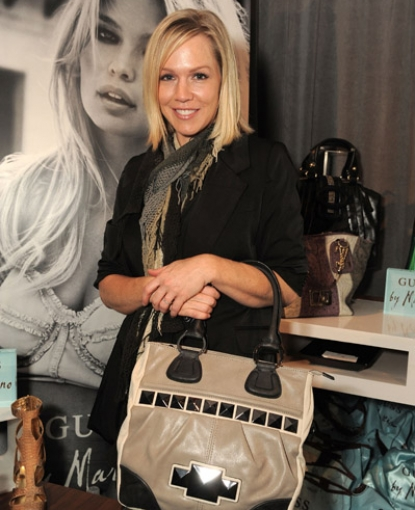 Jennie Garth looks fabulous with a bag from Guess by Marciano at Access Hollywood's 4th Annual 'Stuff You Must…' Golden Globes Gifting Lounge at the Sofitel Hotel in LA on January 15, 2010