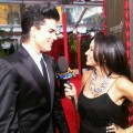 Access Hollywood.com's Laura Saltman chats with Adam Lambert at the 16th Annual Screen Actors Guild Awards held at the Shrine Auditorium on January 23, 2010 in Los Angeles, California