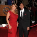 Mariah Carey and husband Nick Cannon arrive at the 16th Annual Screen Actors Guild Awards held at The Shrine Auditorium, Los Angeles, January 23, 2010