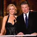 Felicity Huffman and Alec Baldwin speak onstage at the 16th Annual Screen Actors Guild Awards held at the Shrine Auditorium on January 23, 2010 in Los Angeles, California